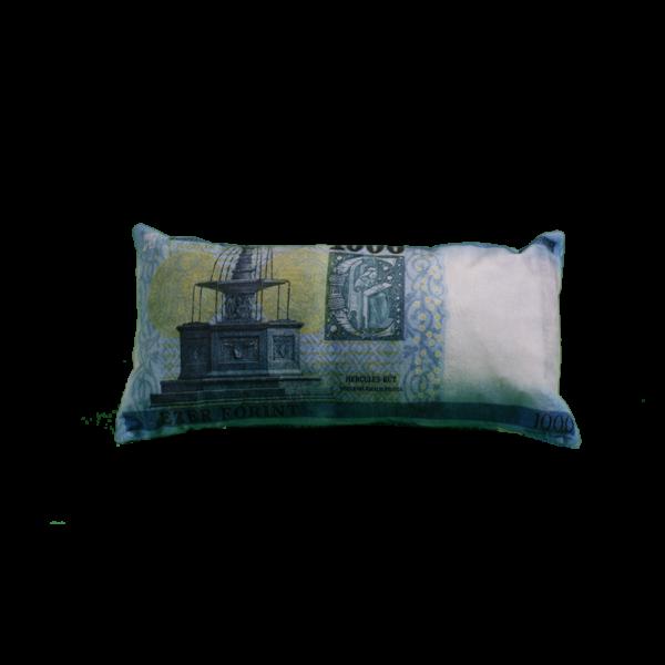 1000 Ft mintás egyedi pénzes párna hátulja termék kép