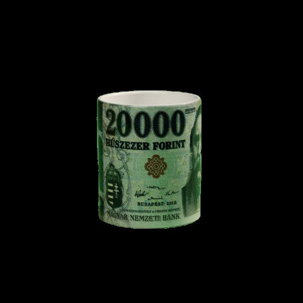 20000 Ft mintás egyed pénzes bögre termék kép
