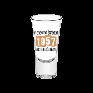 A legjobb évjárat - 1957 évszámos tüske pálinkás pohár minta