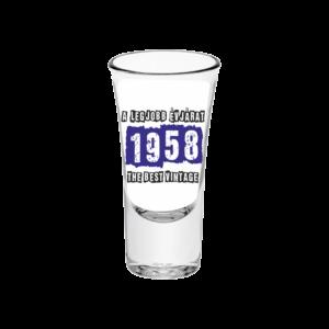 A legjobb évjárat - 1958 évszámos tüske pálinkás pohár minta
