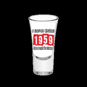 A legjobb évjárat - 1959 évszámos tüske pálinkás pohár minta