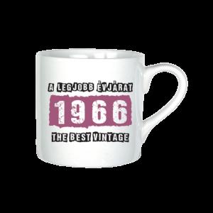A legjobb évjárat - 1966 évszámos bögre minta