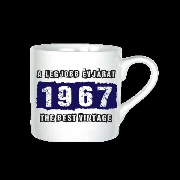A legjobb évjárat - 1967 évszámos bögre minta