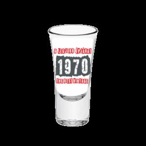 A legjobb évjárat - 1970 évszámos tüske pálinkás pohár minta