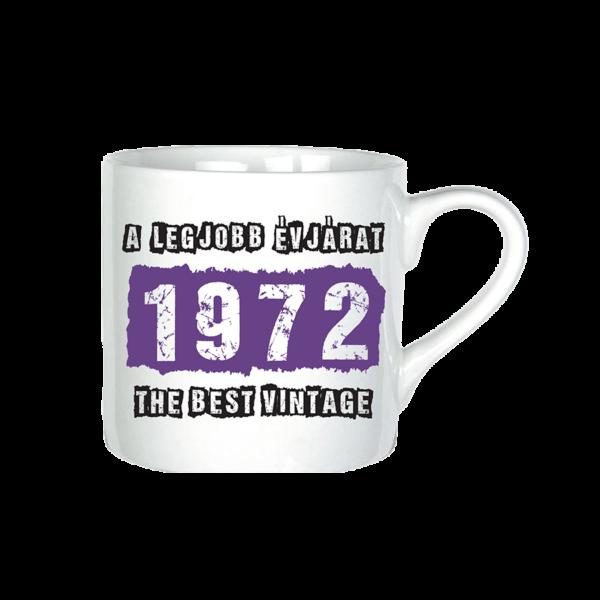 A legjobb évjárat - 1972 évszámos bögre minta