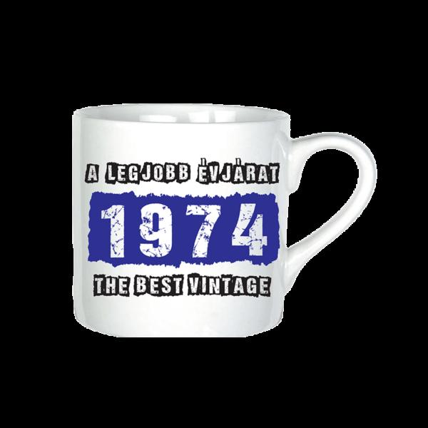 A legjobb évjárat - 1974 évszámos bögre minta