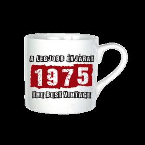 A legjobb évjárat - 1975 évszámos bögre minta