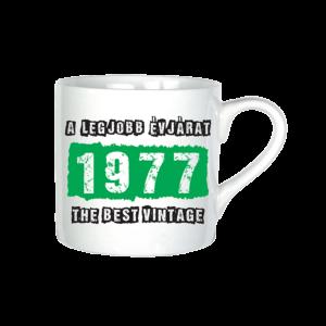 A legjobb évjárat - 1977 évszámos bögre minta