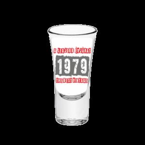 A legjobb évjárat - 1979 évszámos tüske pálinkás pohár minta