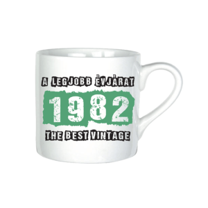 A legjobb évjárat - 1982 évszámos bögre minta