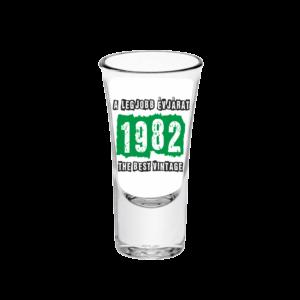 A legjobb évjárat - 1982 évszámos tüske pálinkás pohár minta