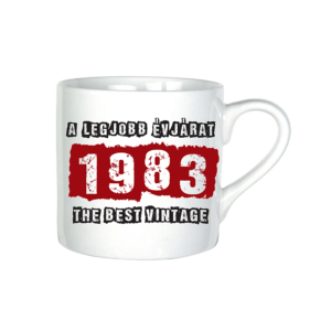 A legjobb évjárat - 1983 évszámos bögre minta