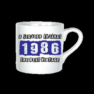 A legjobb évjárat - 1986 évszámos bögre minta