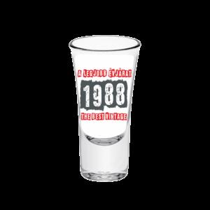 A legjobb évjárat - 1988 évszámos tüske pálinkás pohár minta
