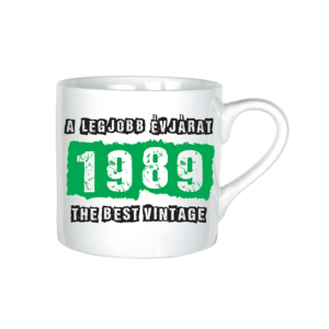 A legjobb évjárat - 1989 évszámos bögre minta