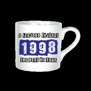 A legjobb évjárat - 1998 évszámos bögre minta