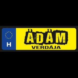 Ádám verdája neves rendszámtábla termékkép