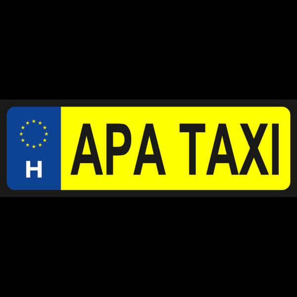 Apa taxi vicces rendszámtábla minta