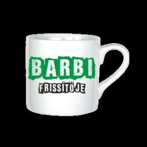 Barbi frissítője neves bögre minta