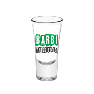 Barbi frissítője neves tüske pálinkás pohár minta