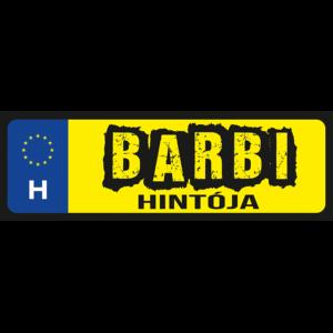 Barbi hintója neves rendszámtábla minta