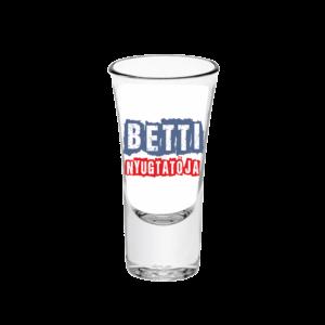 Betti nyugtatója neves tüske pálinkás pohár minta