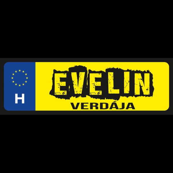 Evelin verdája neves rendszámtábla minta