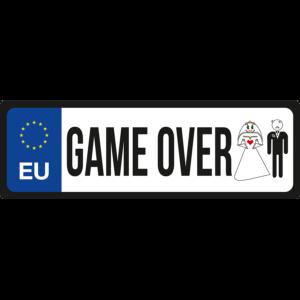 Game Ower2 vicces rendszámtábla minta