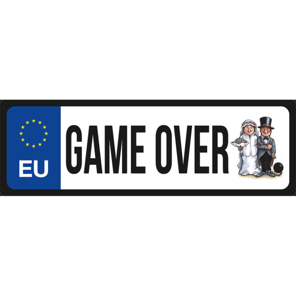 Game Ower vicces rendszámtábla minta