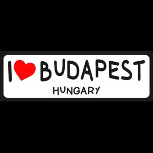 I love Budapest vicces rendszámtábla minta