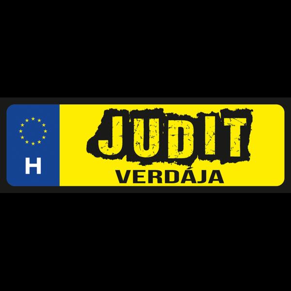 Judit verdája neves rendszámtábla minta