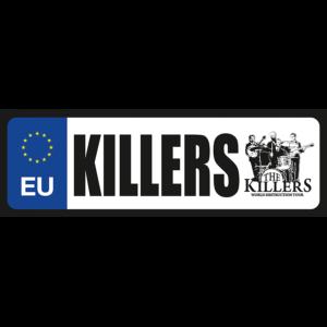 Killers vicces rendszámtábla minta