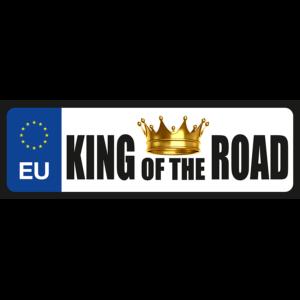 King of the road vicces rendszámtábla minta