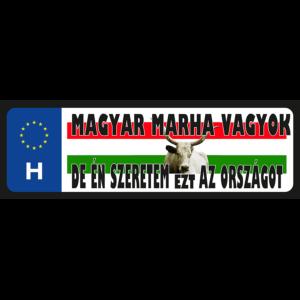 Magyar marha vagyok vicces rendszámtábla minta