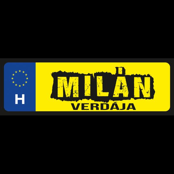 Milán verdája neves rendszámtábla minta