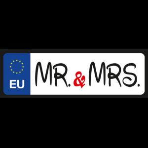 Mr & Mrs vicces rendszámtábla minta