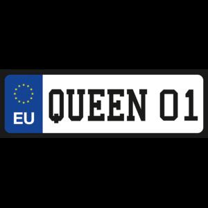 Queen 01 vicces rendszámtábla minta