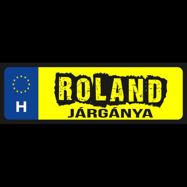Roland járgánya neves rendszámtábla minta