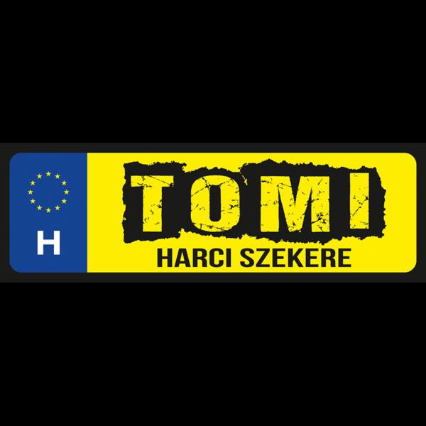Tomi harci szekere neves rendszámtábla minta