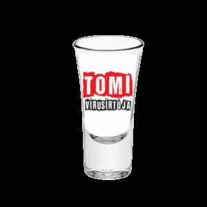 Tomi vírusírtója neves tüske pálinkás pohár minta