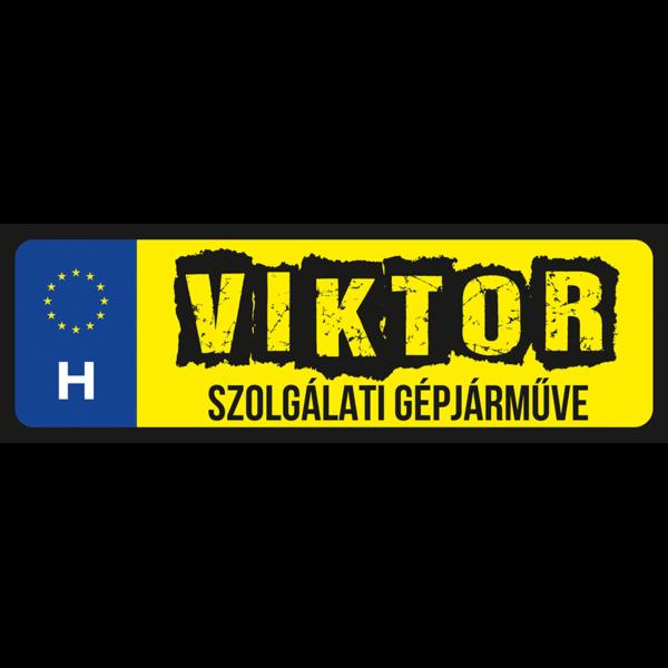 Viktor szolgálati gépjárműve neves rendszámtábla minta