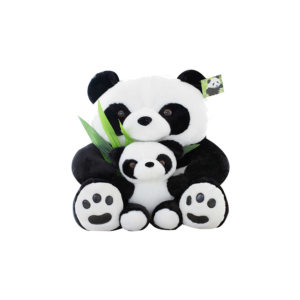 50 cm-es Plüss Panda kis pandával termék kép
