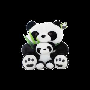 75 cm-es Plüss Panda kis pandával termék kép