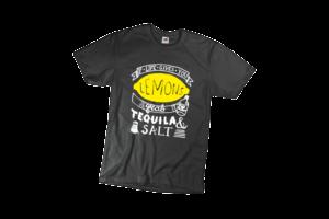 If life gives you lemon grab tequila and salt férfi fehér póló minta termék kép