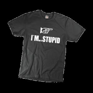 I'm with stupid férfi fehér póló minta termék kép