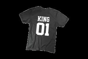 King 01 férfi fehér póló minta termék kép