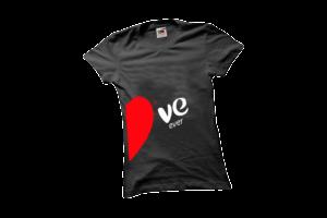 Love forever jobb női fehér póló minta termék kép
