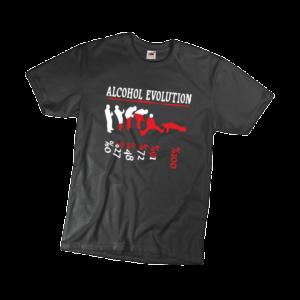 Alcohol evolution férfi fehér póló minta termék kép