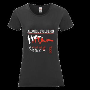 Alcohol evolution póló női fehér minta