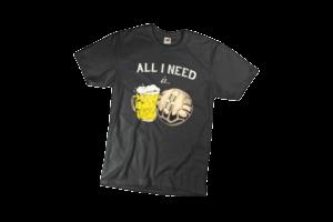 All i need is férfi fekete póló minta termék kép